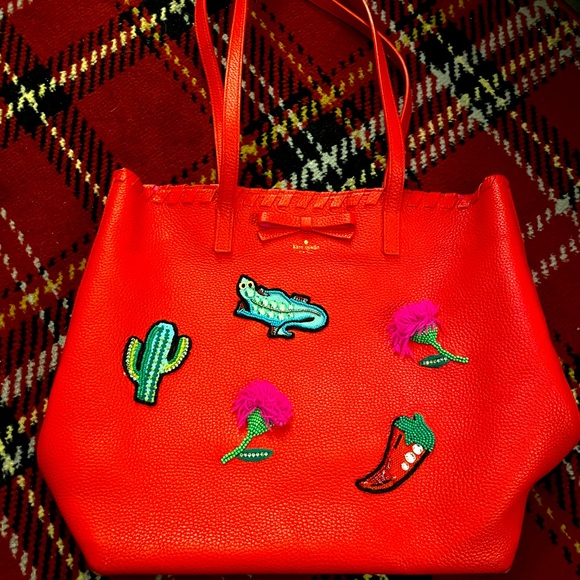 Kate Spade prickly pear cactus patch tote